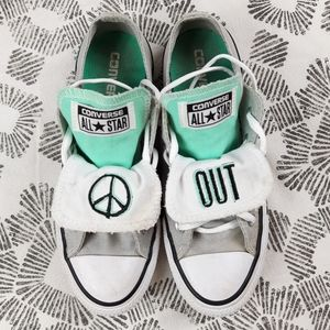 Converse All Star Peace Out Sneakers Size 6